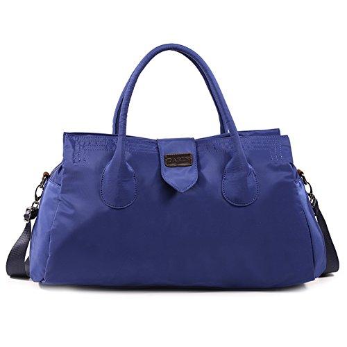Affondi/borsa delle donne/leggero, semplice, grande capacità borsa da ginnastica/borsa a tracolla-Nero blu marino