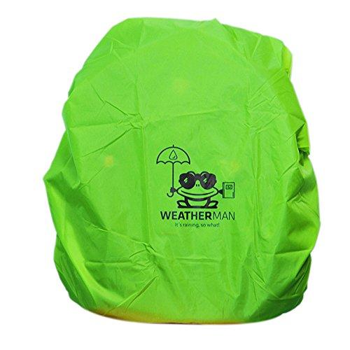 Weatherman Regenschutz für Schulranzen und Rucksäcke, Signalfarbe, mit Gummizug, Regenhülle, Sicherheitsüberzug, Sicherheitshülle, Schutzhülle, Regenschutzhülle (Grün)