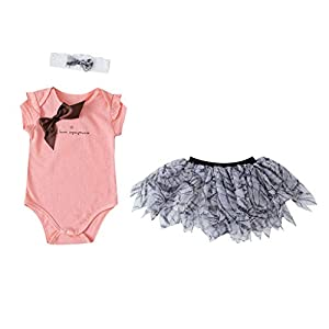 Trisee Baby Girls Tulle Rainbow Tutu Mini Falda + 1st Crown Romper + Diadema Outfit 3pcs Conjunto de Ropa Baby Girls 1er… 7