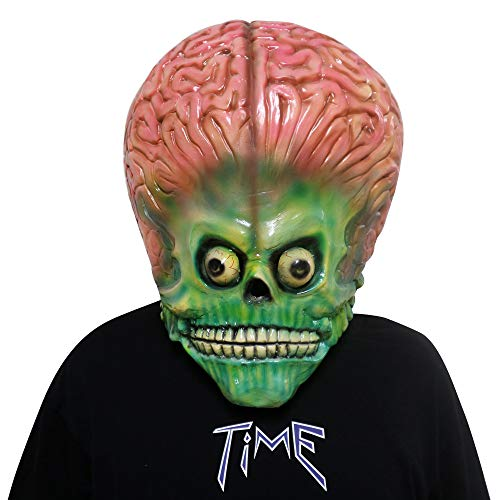FUGUI Erwachsene Mars Attacks Alien Drohne Mars Maske Party Cosplay Halloween Kostüm Requisite - Mars Attacks Alien Kostüm