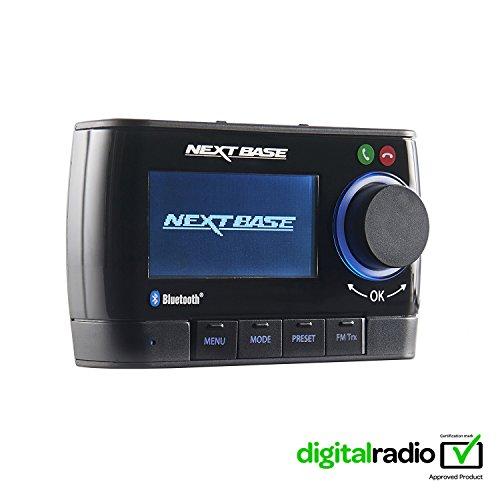 Nextbase Adapt DAB350BT - DAB Plus Adapter für Digital-Radio mit Bluetooth Freisprecheinrichtung & Musik-Streaming - DAB+ Auto-Radio Empfänger mit integriertem FM Transmitter - mit Zubehör