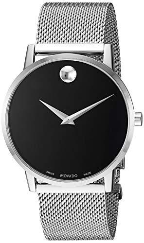 Movado Men's Museum Classic 40mm Steel Bracelet & Case Quartz Watch 0607219