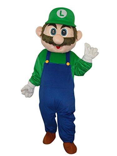 Super Mario Erwachsene Halloween Maskottchen Kostüm Kleid Cosplay Outfit (Sport Maskottchen Halloween-kostüme)