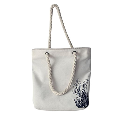 Tela spalla borse, donna mori stile mano borse spalla dipinta capacità donne Canvas borse di Kangrunmy B