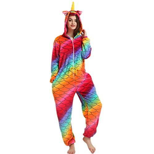Imagen de mjtp unicornio pijama unicornio albornoces navidad carnaval fiesta cosplay unicornio disfraces sirena, m