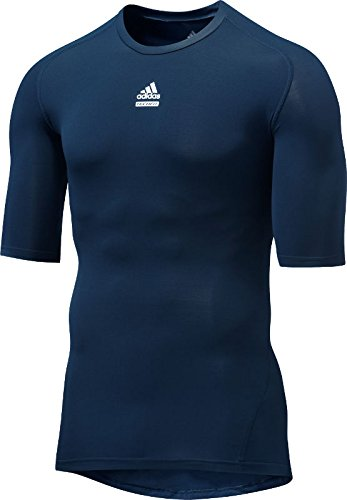 Adidas Techfit C&S Compression Shortsleeve Tee - Kurzarm Funktionsshirt, Größe:M;Farbe:navy (Adidas Short Sleeve Tee Climalite)