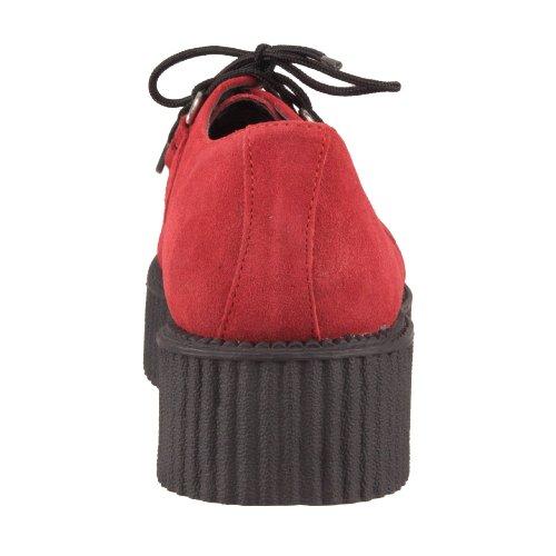 Rossetto Mondo Tuk A8056 Suede Rosso Solo Creeper w1wqZ8a
