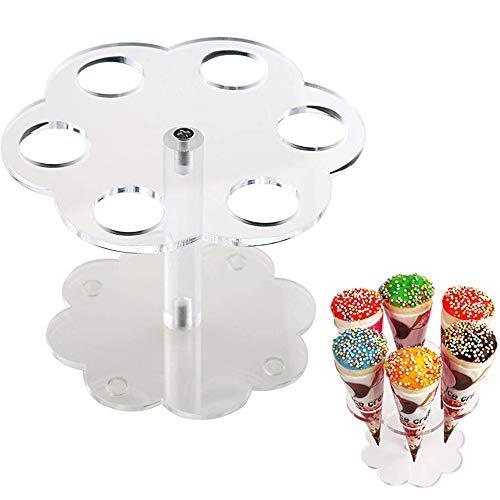 Eiskegel-Halter für Kinder, 6 Löcher, für Geburtstag und Junggesellenabschied, Partyzubehör ()