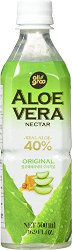 Allgroo Aloe Vera Nektar (40% Aloe Vera, vegetarisch, pfandfrei) Pur, 12er Pack Vorratspackung (12 x 500ml)