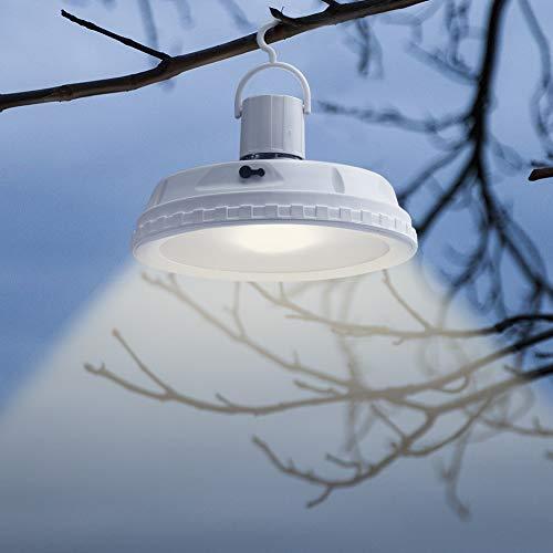 Lampara Solar Exterior Jardin Led Lampara Solar Camping 10W E27 Colgar Luz Con Sensor De Movimiento 3 Modo De Brillo