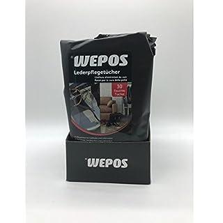 Wepos (0,05€/Tuch) Lederpflegetücher Leder Pflege Reinigungstücher