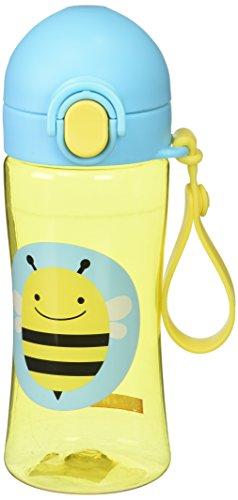 Skip Hop 252628 Zoo Lock Top Sportflasche, mit Strohhalm aus Silikon, für Kinder, mehrfarbig, Biene Brooklyn -
