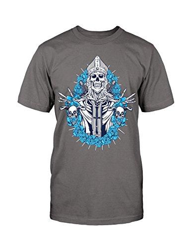Skull T-Shirt Neu Fun Rockabilly Old School Retro Kult Fashion Funny Gift Biker Grau