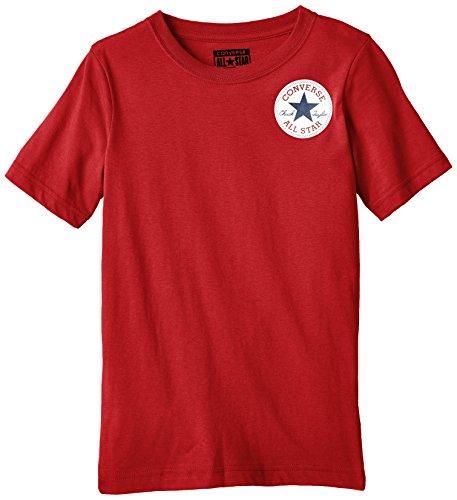 Converse Left Chest-T-shirt Bambini e ragazzi,    Red (Days Ahead) 10-12 (Abbigliamento bambino)