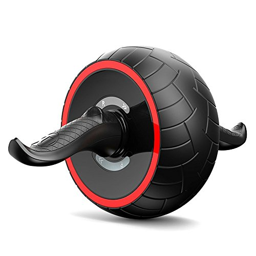Selbst-einziehbar Bauchtrainer Kern Bauch Übungen Training Roller Rad mit einem Knie-Auflage, Bauch Rad für Bauchpressen, Bauch-Rad für perfekte Six Pack