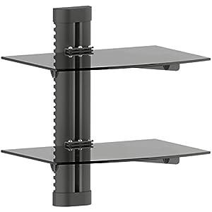 + accesorios videoconsolas: deleyCON Multimedia Wall Shelf Estantería de Vidrio para DVD Reproductor BLU-Ray...