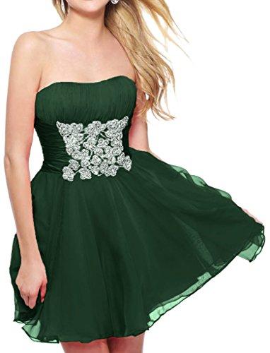 Missdressy - Robe - Trapèze - Femme Vert - Vert foncé