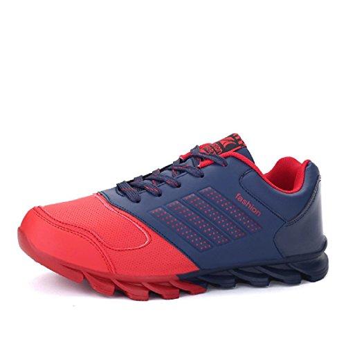Uomo Moda Antiscivolo Scarpe sportive traspirante Scarpe da corsa Il nuovo Scarpe da ginnastica formatori Scarpe da ginnastica euro DIMENSIONE 39-44 Red