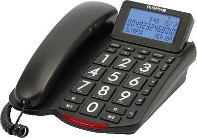OLYMPIA 2161 Schnurgebundenes Großtasten Telefon schwarz