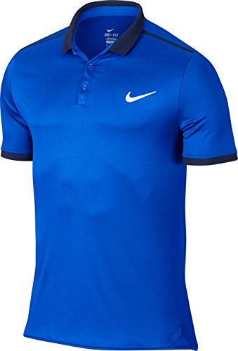Nike Herren Advantage Solid Polo Men Oberbekleidung, Hellblau, XL