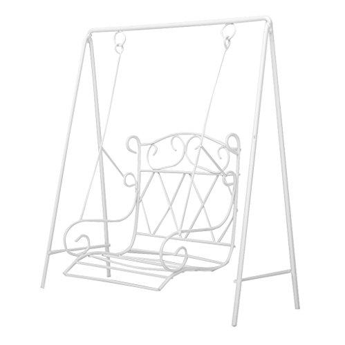 1/12 Puppenhaus Miniatur Garten Möbel Metall Schaukel Schaukelstuhl Gartendekor