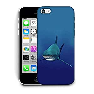 Snoogg Shark Printed Protective Phone Back Case Cover For Apple Iphone 5C