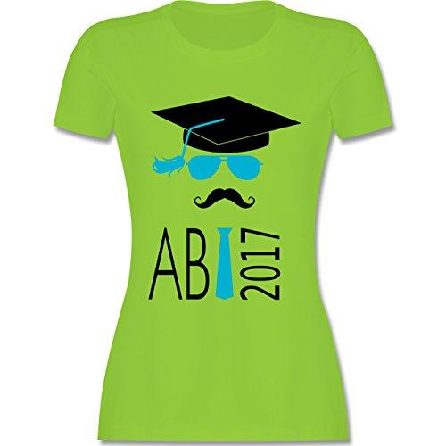 Abi & Abschluss - Hipster Abi 2017 Mustache - tailliertes Premium T-Shirt  mit Rundhalsausschnitt