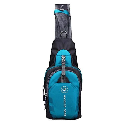 Geilisungren Herren Umhängetasche Schultertasche Schulter Rucksack Lässig Crossbody Tagesrucksäcke Brust Sling Bag Wandern Sport Fahrrad Ungleichgewicht Gym Daypacks Multipurpose Tagepacks (Blau) -