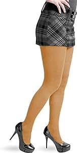 2 x Damen Strickstrumphose aus Baumwolle Farbe Tangerine Größe S/M