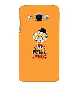 Samsung J3 Hello Ladies Dark Orange Mobile Cover