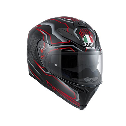 AGV ndash; Casco de moto K-5 S E2205 Multi PLK, negro/blanco/rojo, talla XS