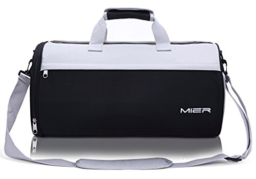 MIER Small Gym Bag with Shoe Compartment Barrel Sports Duffel Bag for Men,  Women, 1fca58a213