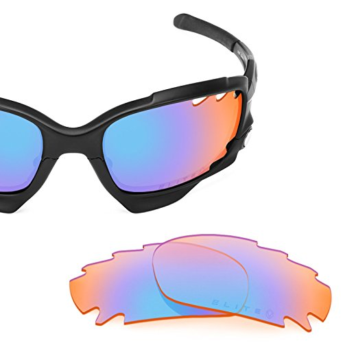 Verres de rechange pour Oakley Racing Jacket Vented — Plusieurs options Elite Tioga Orange MirrorShield®