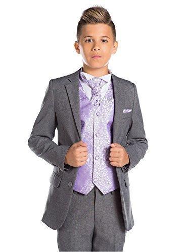 nabenanzug, grau, feiner passgenauer Anzug, Weste & Krawatte, 12-18Monate–13Jahre Gr. 4 Jahre, Lilas (Kostüme Für 15 Jährigen)
