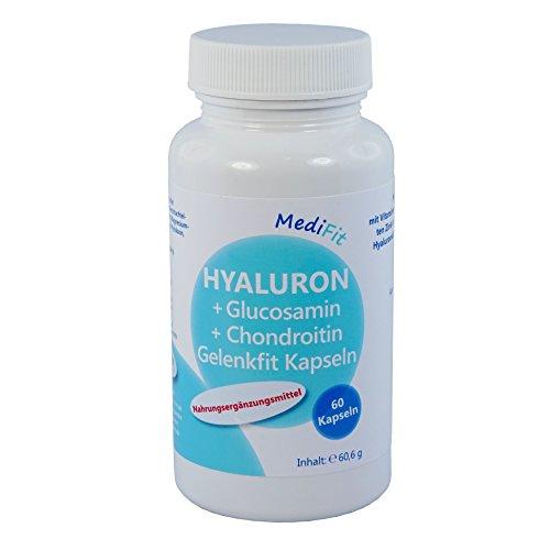 MediFit Hyaluron, Glucosamin, Chondroitin Gelenk Fit Kapseln, 1er Pack (1 x 60 Stück)
