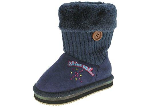 Beppi bottes d'hiver pour enfant avec leuchtsohle * Bleu - Bleu