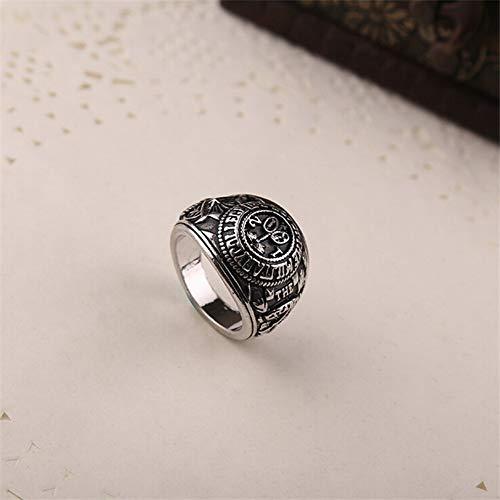 ZUXIANWANG Ring Ring Männer Film Schmuck Haus der Karten Vintage Swirl Legierung Gravur Ringe für Frauen Bronze Silber Ringe Geschenk, 20. -