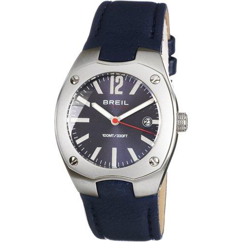 Breil tw0392-orologio uomo con cinturino in pelle, colore: blu