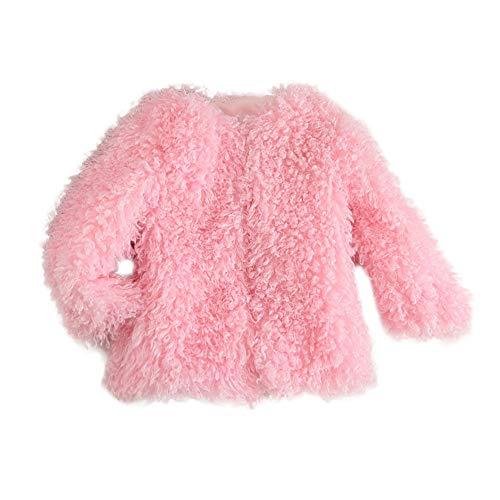 Kinder Mäntel Sunnydrain Kinderjacken Kunstpelz O-Neck Lose Patchwork Reine Farbe Winter Warm Herbst Kapuzen Outerwear Baumwolle Langarm