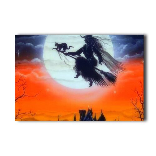 20x30-inch-poster-flying-witch-painting-halloween-wall-sticker
