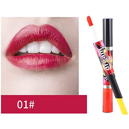 friendGG Doppelt endender wasserdichter Lip Liner Stick 6-Farben-Dual-Use-Lipgloss Super glänzender...