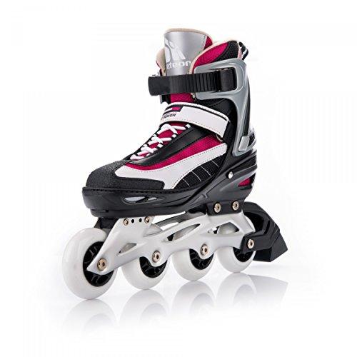 meteor® XRide 100 Inline Skates   Kinder   Damen   Herren   Größenverstellbar: 31-34/35-38/39-42   ABEC 7, Größe:S (31-34);Farbe:red