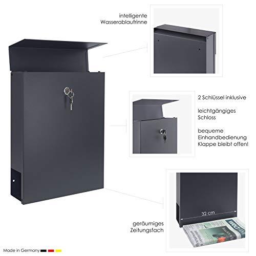 MOCAVI Box 500 Design-Briefkasten mit Hausnummer (Edelstahl ...