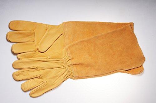 Gants de jardinage special épineux pour protection avant bras en cuir long