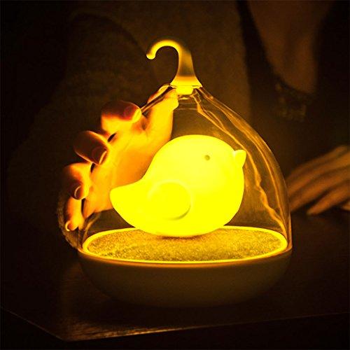 WYQLZ Nachtlicht, Touch Vibration Induktion kreative LED Vogelkäfig Nachtlicht USB Lade Baby Schlafzimmer Nachttisch Kinder Zimmer Dekoration Lampe ( Farbe : Blau )