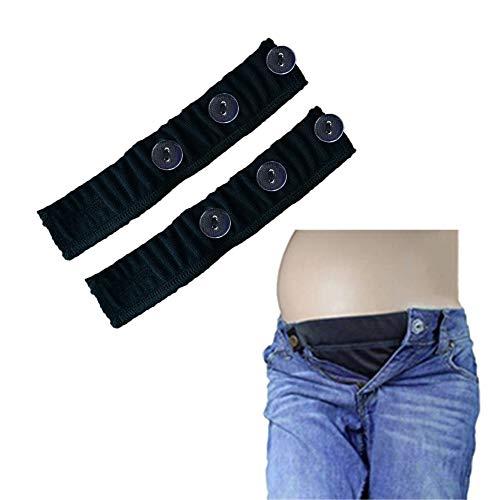 Bauchband für Schwangerschaft-Bund Extender Schwangere verstellbare elastische Hose Männer ()