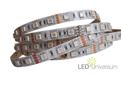 1 Meter RGB LED Strip Stripe Streifen Leiste Band (60LED/m, IP20) - Anschluss 4 pol Stecker