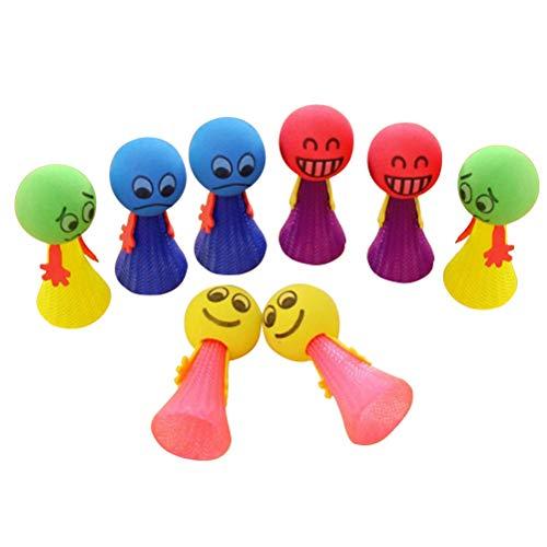 TOYANDONA Bounce Spielzeug Fly Jump Elf Baby Lernspielzeug 3x6cm 24 Stück (Zufällige Farbe und Muster)