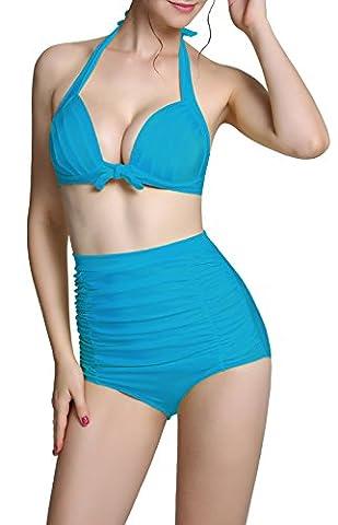 Zando - Bas de maillots - Femme bleu bleu eau XXXL