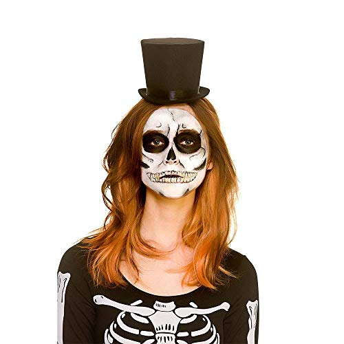 Adult Day of the Dead Mini Top Hat on Headband Halloween Fancy Dress Accessory